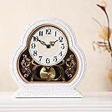 Bing BINGReloj retro reloj europeo personalidad creativa reloj de péndulo decoración de escritorio de moda vintage reloj silencioso sala de estar grande