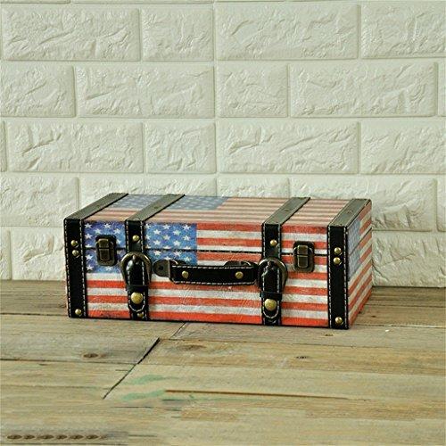 Uncle Sam LI- Rétro caisson en bois à la main en bois étagères valise design créative mur pendentif bar café Étagères flottantes Décorations murales (Couleur : #2, taille : 35cm)