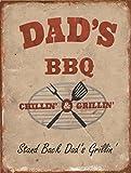 SHAWPRINT Dads BBQ Schild Shabby Chic Retro Metall blechschild Wandschild Neuheit Geschenk