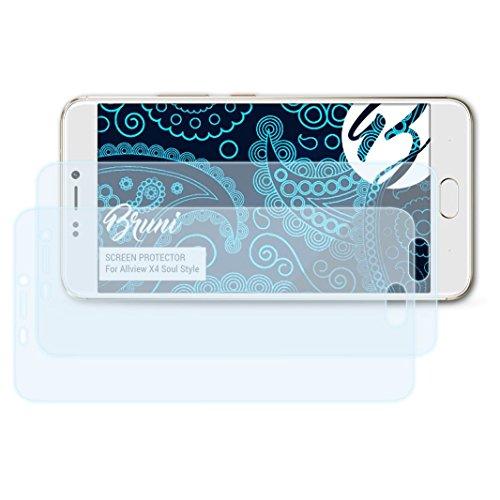 Bruni Schutzfolie für Allview X4 Soul Style Folie, glasklare Bildschirmschutzfolie (2X)