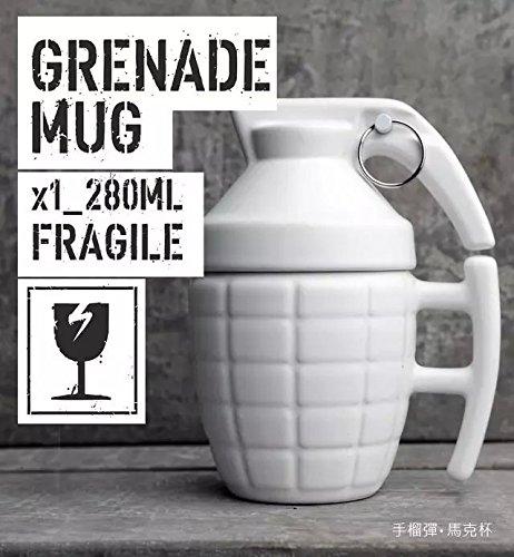 Grenade mug creative Glass 280ml, White