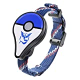Bracelet Pokemon GO sans Fil Bluetooth Bracelet Wearable LED Gaming Device Détecteur de Monstre Bracelet de Rappel Intelligent Nouveau Design Uniquement pour Pokemon GO Plus (Bleu)