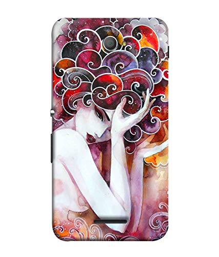 Printfidaa Beautiful Fantasy Painting of Lilac Flower Fairies Detailed Colorful Artwork Printed Back Cover for Sony Xperia E4, Sony Xperia E4 Dual