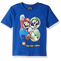 ‏‪Nintendo Toddler Boys Anchor Mario Graphic T-shirt, Royal, 4T‬‏