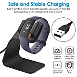 CAVN Compatible with Fitbit Charge 3 Charger Dock, (150cm/4.9ft) Replacement Premium Aluminum Charger Dock USB Charging Cable Adapter Portable Charging Stand for Fitbit Charge 3 /Charge 3 SE, Black