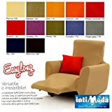 Funda Para Sofá Sofá Reclinable Sillones Carcasa Easy Long Producto italiano Crema