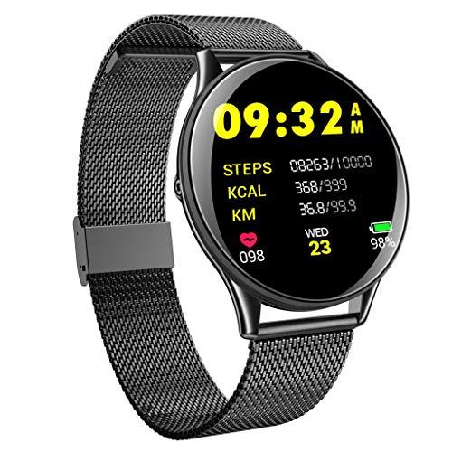 port Smart Armbanduhr Pulsmesser/Blutdruck/Fitness Tracker IP68 Wasserdicht Chronograph Schrittzähler Watch für Android IOS ()