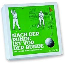 Geschenkidee NEU! Eine Auswahl an lustigen Golfübungen für den Alltag. Die Golf Geschenkbox: Nach der Runde ist vor der Runde