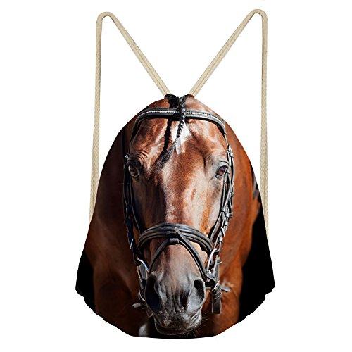von Jungen, Mädchen Rucksack Schulranzen Schulter Rucksack Umhängetasche mit Alarm, damen, S-3155Z3, brown horse, S