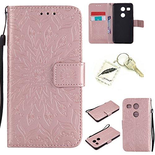 Preisvergleich Produktbild Silikonsoftshell PU Hülle für LG Nexus 5X (5,2 Zoll) Tasche Schutz Hülle Case Cover Etui Strass Schutz schutzhülle Bumper Schale Silicone case+Exquisite key chain X1) #AD (3)