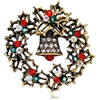 DJDG broche Aleación De Joyería Diamante Navidad Campana Campana Broche