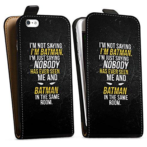 Apple iPhone 8 Tasche Hülle Flip Case Sprüche Batman Statement Downflip Tasche schwarz