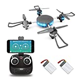 LBLA Wifi FPV Drone, Altitude Hold RC Quadcopter 720P HD WiFi Real-time Transmission Camera, Compatible VR Headset (gray)