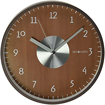 Buy Decomates Non Ticking Silent Wall Clock Brown