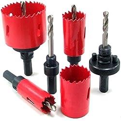 M42 Scie-cloche en acier rapide avec adaptateur hexagonal et perceuse de centrage, 1 scie cloche 38 mm pour découper les dents et percer