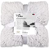 CelinaTex Minka, Bettwäsche Set 4tlg 135 x 200 cm Creme weiß braun, warme kuschelig Flauschige Winter Garnitur Longhair Fleece Bettbezug Kissen 80x80 Flokati Fell-Optik, 6000279