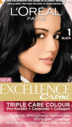 L'Oreal Paris Excellence Creme, Black 01,72ml+100g