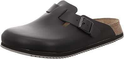 Boston Clogs Leather Super Grip Black