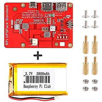 dbdb87f7780 Crazepony-UK Lithium Battery Expansion Board for Raspberry Pi 3 Model B+ Pi  3B 2B Official LCD (Upgraded Version)