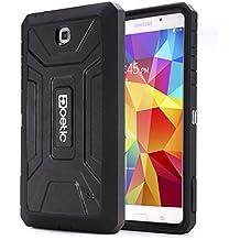 Funda Samsung Galaxy Tab 4 7.0 - Poetic [Serie Revolución] [Pesada] [Doble Capa] Funda de Protección Hibrida Completa con Protector de Pantalla Incorporado para de Samsung Galaxy Tab 4 7.0 (2015) Negro (3 Años Garantía del Fabricante Poetic)