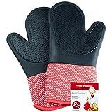 primek Itchen – Guantes de silicona & algodón 2 piezas/guantes de horno para cocina