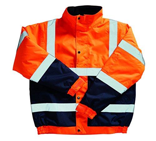 Blackrock–8002607–giacca ad alta visibilità due tonalità bomber jacket, en471, classe 3, 2x l, orange/navy