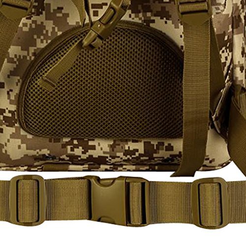 Gazechimp 30L Rucksack, Erwachsene Taktischer Rucksack Trekkingrucksack Outdoor Wanderrucksäcke für Camping Wandern Reisen Radfahren, Sport Backpack Desert Digital