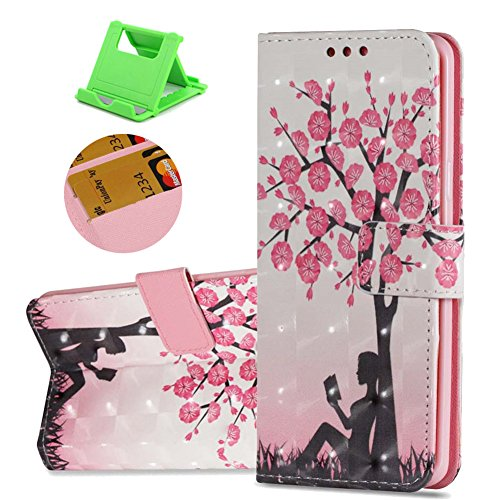 Galaxy S9 Plus Leder Brieftasche - S9 Plus Schutzhülle, Katech Flip Kartenfächer - Standfunktion Luxuriös PU Leder Wallet Hülle Case Bumper Cover für Samsung Galaxy S9 Plus + 1 x Ständer