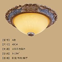 Cttsb De estilo europeo lámpara de techo dormitorio luz redonda simple europea sala de luces pasillo corredor luces de porche de iluminación, lámparas americanas, a40cm parches de tres colores