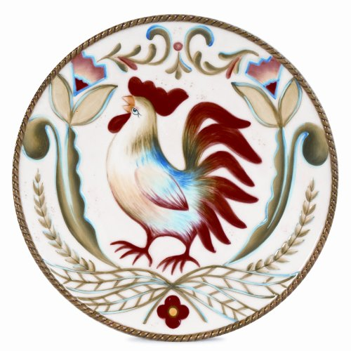 Fitz and Floyd Glennbrook 8.75-Inch Salad Plate with Rooster by Fitz and Floyd - Fitz Floyd Roosters