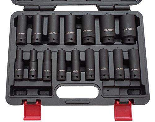 """Preisvergleich Produktbild Kraft-Schlagschrauber-Nüsse 1/2"""" 10-32 mm 16-tlg Steckschlüssel-Satz Schlagnuss"""