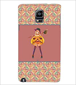 PrintDhaba Girl with Broom D-2603 Back Case Cover for SAMSUNG GALAXY NOTE 3 (Multi-Coloured)