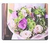 luxlady Gaming Mousepad Bild-ID: 37415633Braut oder, Brautjungfer mit Bouquet of Flower Retro Filter Effekt