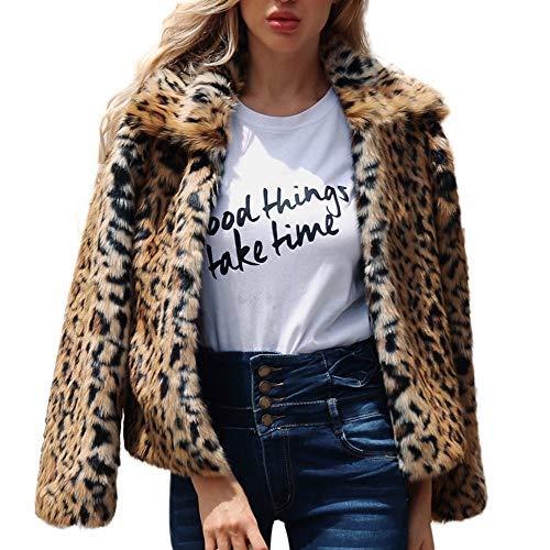 POLP Abrigos mujer Estampado Leopardo Sudadera con Capucha de Invierno de Mujer Calientes Sudadera con Capucha de Jersey de la impresión del Leopardo de Mujer Neck Warmer Chaqueta de Solapa