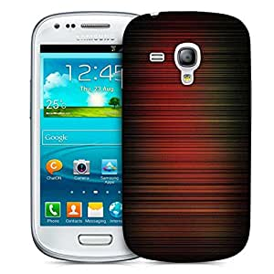 Snoogg Red Pattern Design Printed Protective Phone Back Case Cover For Samsung S3 Mini / S III Mini