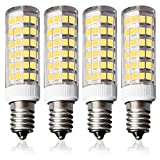 4er Pack Lampaous E14 7W LED Birne 500LM Kaltweiß 6000K 360 ° Maiskolben Lampen 230VAC, 50W Halogenlampe ersetzt