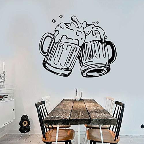 zzlfn3lv Becher Bier Pub Alkohol Bar Aufkleber Vinyl Wandtattoo Removable Self Adhesive Wandbild Moderne Dekoration Tapete 70 * 57 cm (Leichter Bier)