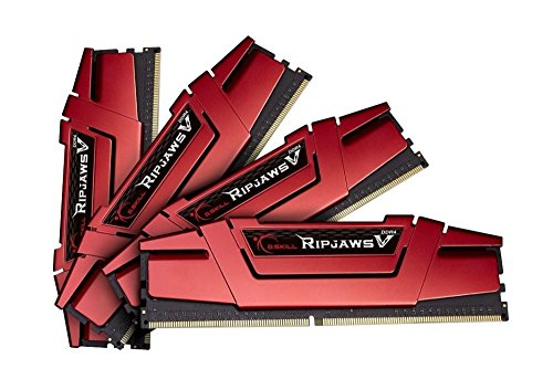 G.Skill Memoria RAM 32GB DDR4 PC4-22400 2800 MHz Ripjaws V per Intel Z170 / X 99 CL15 Quad Channel kit (4x8GB)