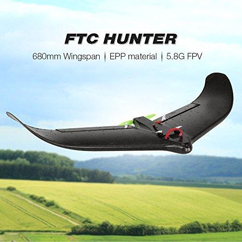 Goolsky FTC HUNTER 660 mm Wingspan 800TVL 150 ° cámara de ángulo ancho EPP Delta Wing Racer RC avión PNP con sistema FPV