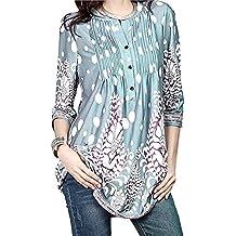 a4ebc28046021c MRULIC Damen Rundhals Geripptes Sleeve Casual Falten Kurzarm T-Shirt mit  Stretch Top