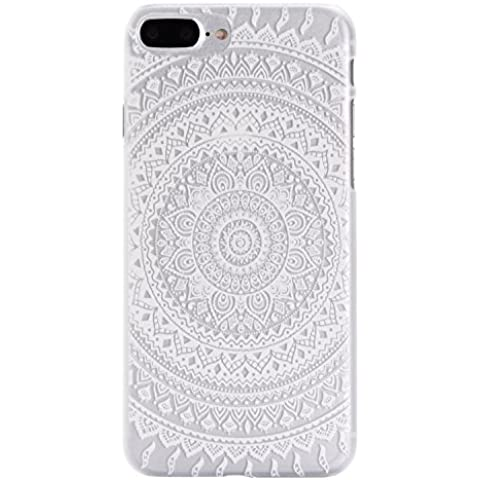 iPhone 7 Plus Hard Case, Per Apple iPhone 7 Plus Cover Rigida, Asnlove Cassa Della PC Duro Cover di Gomma Rigida per iPhone 7 Plus Custodia Antishock Ultra-Slim Hard Designo Anello di fiori