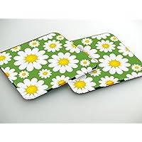 Daisy fiore di colore Set di 6 sottobicchieri spessore 2mm