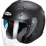 Nexo Motorradhelm Jethelm Comfort mattschwarz S