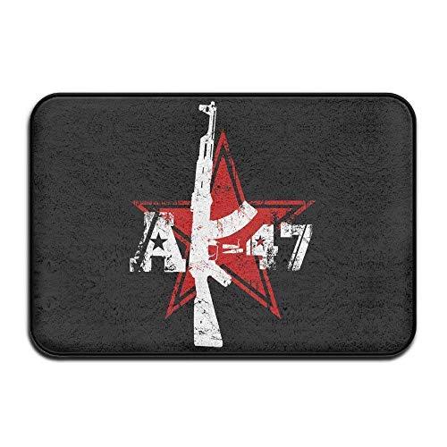 Miedhki AK 47 Red Star Felpudos Entrance Rug Floor Mats Felpudos Floor...
