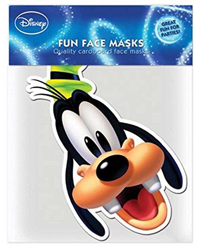 Mouse - Goofy - Papp Maske, aus hochwertigem Glanzkarton mit Augenlöchern, Gummiband - Grösse ca. 30x20 cm ()