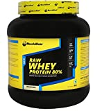 MuscleBlaze Raw Whey Protein - 2.2 lb/ 1 kg,33 Servings (Unflavoured)