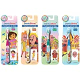DentoShine Kid's CC Grip Toothbrush, 2+ Years (Orange, Green, Pink and Blue, 7.0073626034e+011) - Pack of 4 Designs
