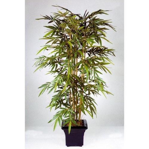 artplants Künstlicher Bambus TARIK, mit 512 Blättern, 120 cm – naturgetreuer Kunstbaum/Deko Bambus