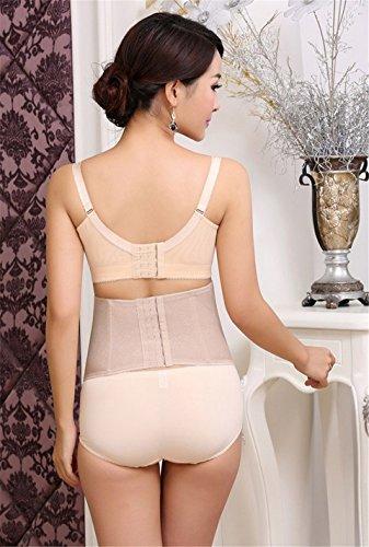 dqq Damen Bauch Slimming Spitze Körperformende Taille Training fördert das Schwitzen Beige - Nude