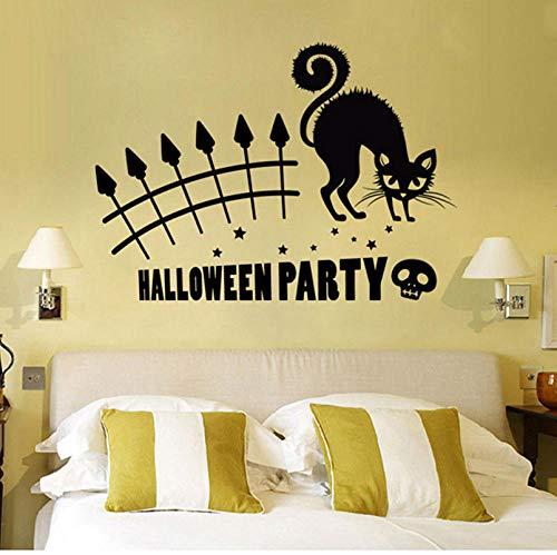 Qzheng Halloween Party Tier Wandbild Abnehmbare Wandaufkleber Kunst Vinyl Applique Hause Raumdekoration Tier Aufkleber Wandbild 56 * 98 Cm (Nicht Zu Hause Halloween-zeichen)